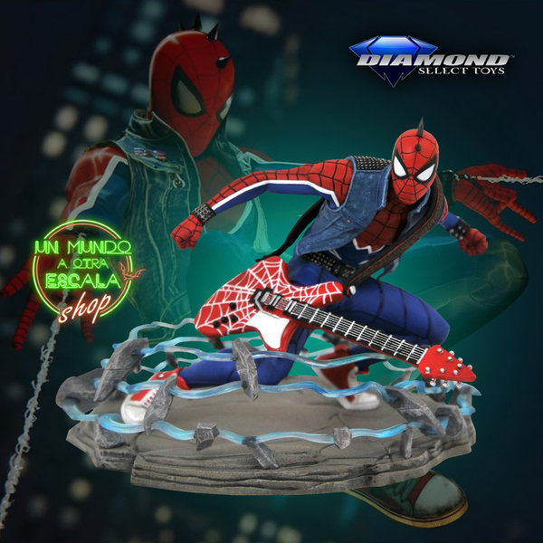 Spider-Man Marvel Video Game Diamond Select Gallery Spider-Punk Exclusive