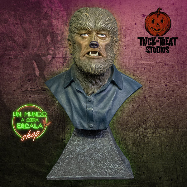 THE WOLFMAN - MINI BUST Trick or Treat Studios *PREVENTA*