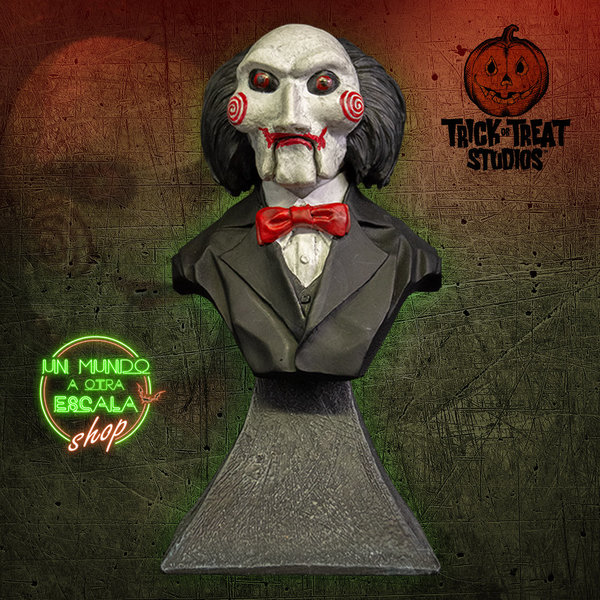 SAW BILLY PUPPET - MINI BUST Trick or Treat Studios *PREVENTA*