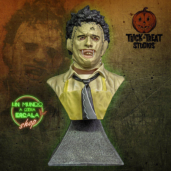 THE TEXAS CHAINSAW MASSACRE LEATHERFACE - MINI BUST Trick or Treat Studios *PREVENTA*