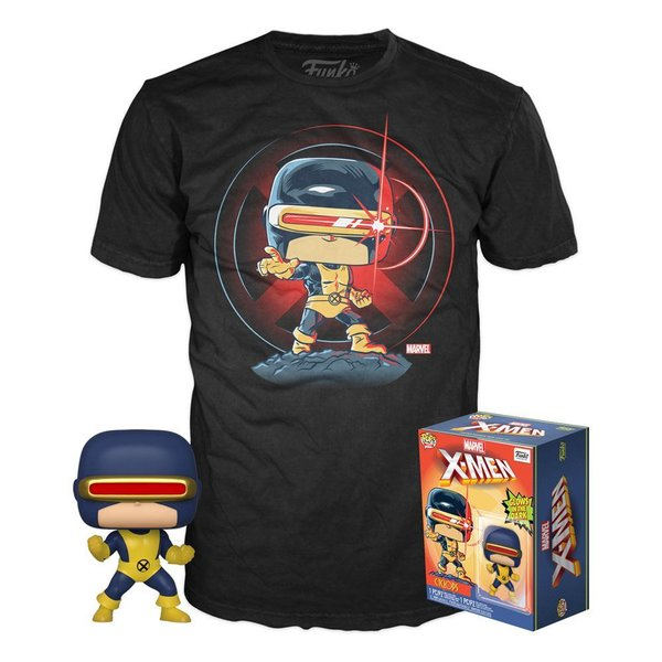 Marvel 80th POP! & Tee Set de Minifigura y Camiseta First Appearance Cyclops (M)