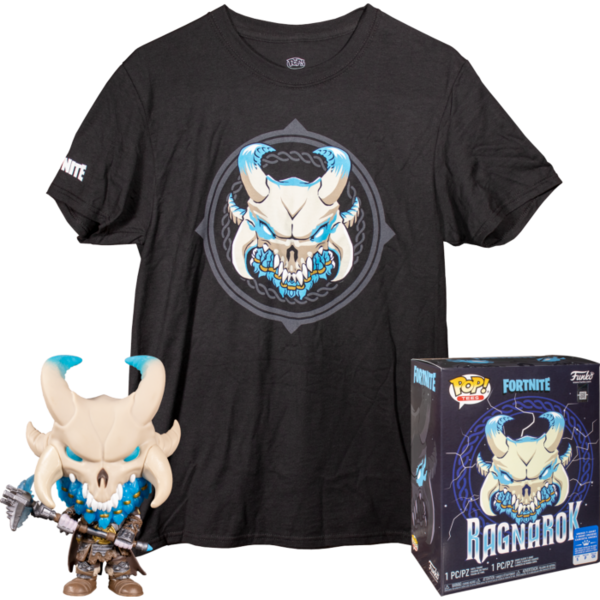 Fortnite POP! & Tee Set de Minifigura y Camiseta Ragnarok (M)