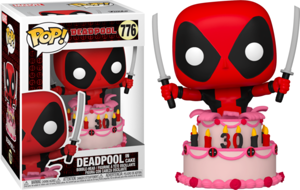 FUNKO POP! Marvel Deadpool 30th Anniversary Deadpool in Cake